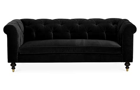 black velvet tufted sofa dexter tufted sofa black velvet kim salmela brands