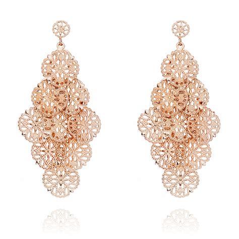 Silver Chandelier Earrings Uk Ingenious Gold Chandelier Earrings With Filigree Discs Ingenious From Ingenious Jewellery Uk