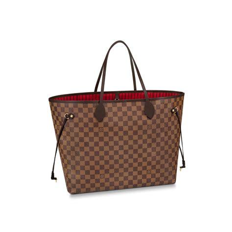 Lv Neverfull L neverfull gm damier ebene canvas handbags louis vuitton