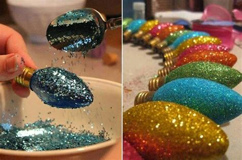 diy glitter christmas ornaments creative ideas
