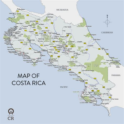 costa rica map with cities map of costa rica costa rica map vidiani maps of
