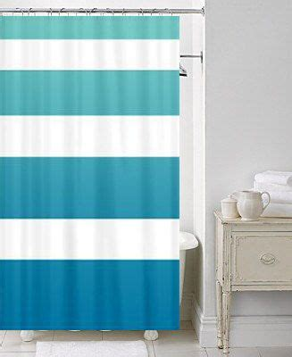 beach house chic shower curtain surfer ombre stripe