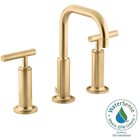 Kohler Purist Bathroom Faucet by Kohler Purist 8 In Widespread 2 Handle Low Arc Bathroom