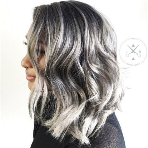 pictures of dark brown hair with gray highlights 40 ideas of gray and silver highlights on brown hair