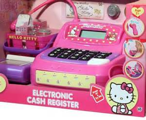 Home hello kitty electronic cash register till money toy with sounds