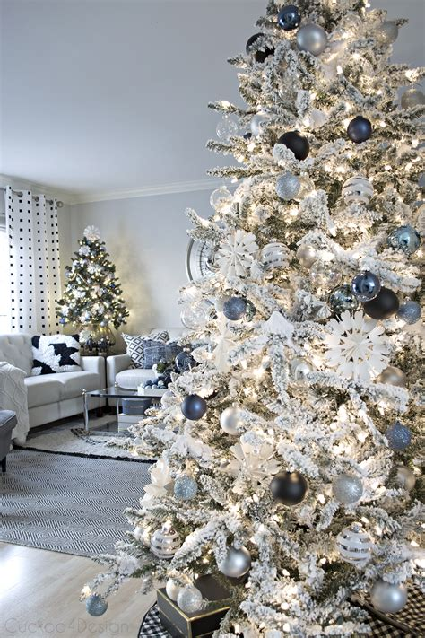 Themed Bedroom Ideas blue black and white christmas cuckoo4design
