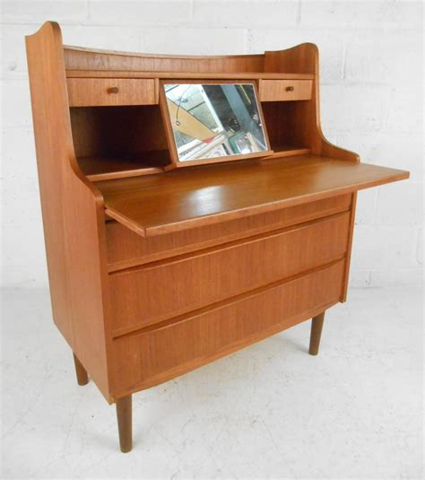 Modern Vanity Desk Scandinavian Modern Teak Vanity Or Writing Desk For Sale At 1stdibs