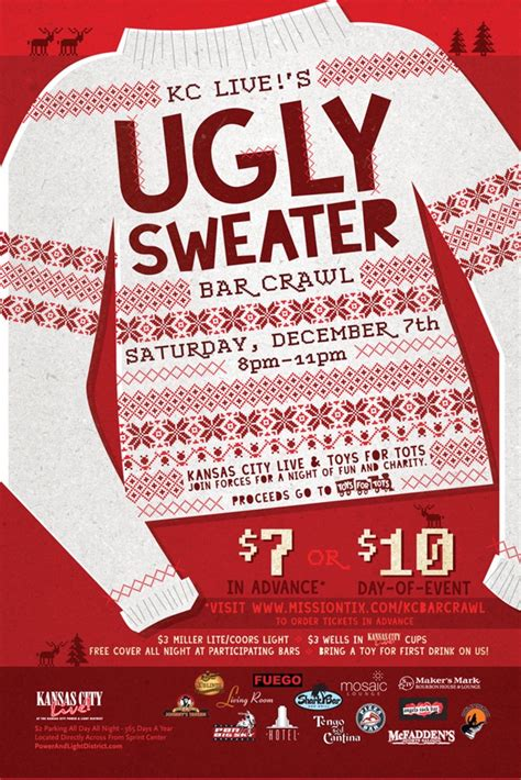 Sweater Flyer Template Ugly Sweater Contest Flyer Template Long Sweater Jacket