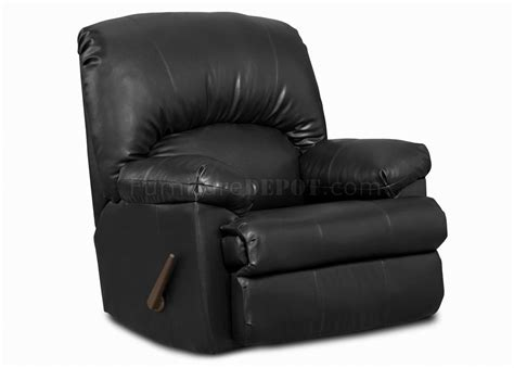 Modern Black Leather Recliner by Black Blended Leather Modern Comfortable Recliner