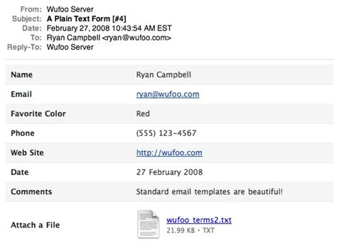 email format standard wufoo blog 183 evolution of email notifications