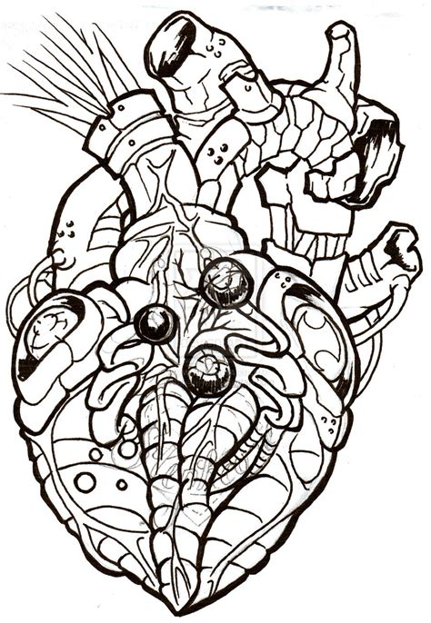 biomechanical heart tattoo pictures biomechanical heart tattoo design real photo pictures