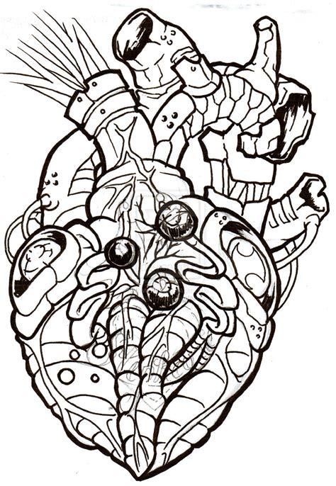 biomechanical heart tattoo designs biomechanical heart tattoo design real photo pictures