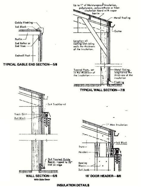 pole machine shed plans blueprints  industrial building