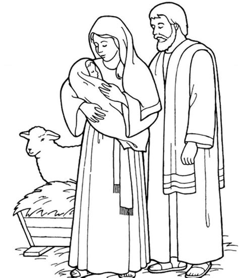 holy family coloring pages coloring home