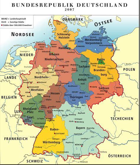 mapa deutschland deutschland karte werden de