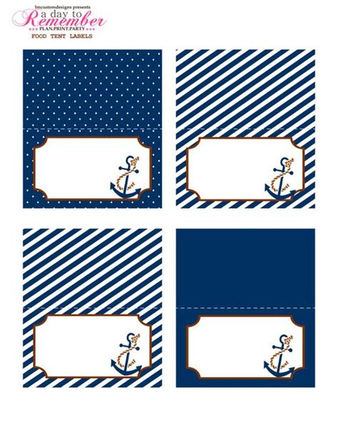 printable nautical name tags nautical food tent labels instant download by