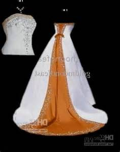 orange and white wedding dresses white and orange wedding dresses world dresses