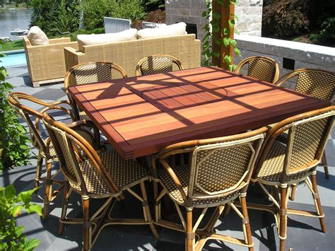 custom made outdoor furniture handmade outdoor dining table by wilson furniture