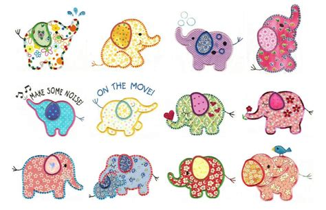 embroidery applique designs elephants applique machine embroidery designs