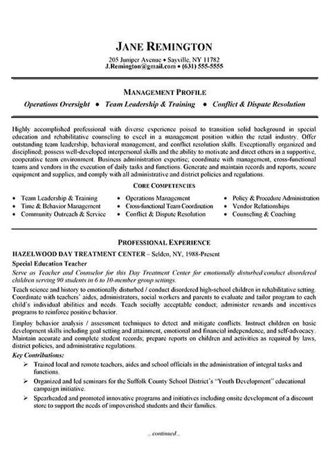 resume sles career change manager career change resume exle career