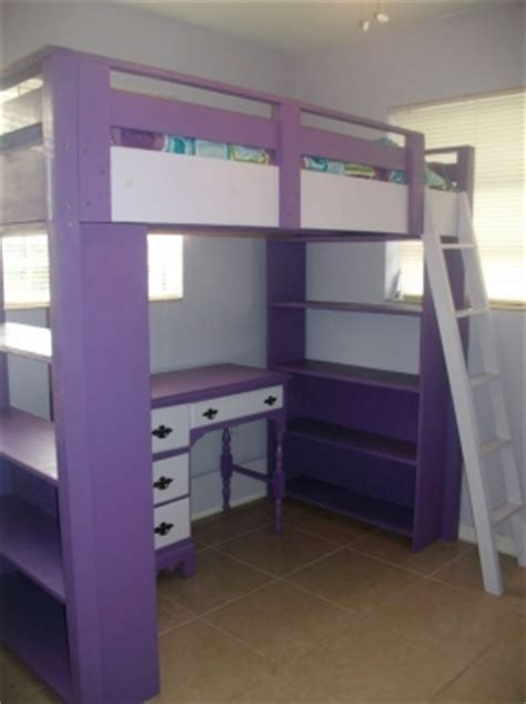 Diy Loft Bed With Dresser by Loft Bed Desk Dresser Foter
