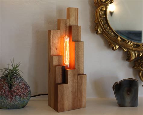 Handmade Lights - unique l in wooden structure bonsai ls home