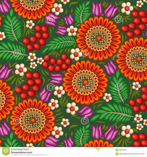 fiori di bacca fondo dipinto con i fiori e le bacche illustrazione