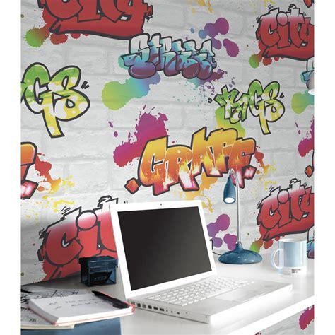 rasch graffiti brick wallpaper white decorating diy