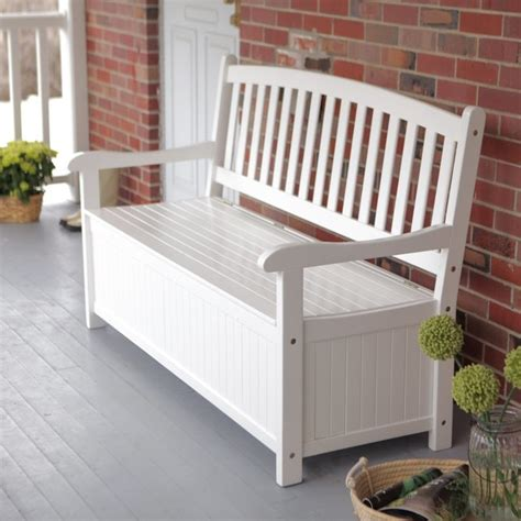 storage bench for outside coral coast pleasant bay 5 ft curved back outdoor wood storage bench white