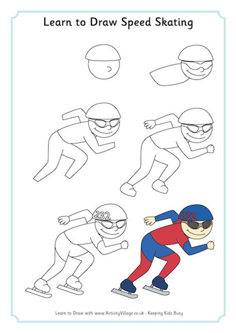 learn to draw learn to draw speed skating