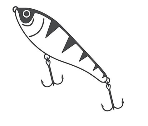 coloring pages fishing lures fishing lure clipart black and white
