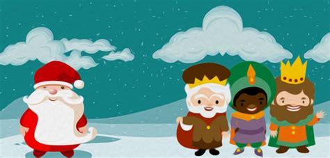imagenes reyes magos y papa noel raquel infantil reyes magos y pap 193 noel