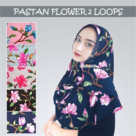 Phasmina Daily Instant Phasmina Bahan Tebal fashion terbaru 2017 pashmina instan flower 2loops trend fashion style 2018