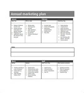 annual business plan template annual marketing plan template 10 free word excel pdf