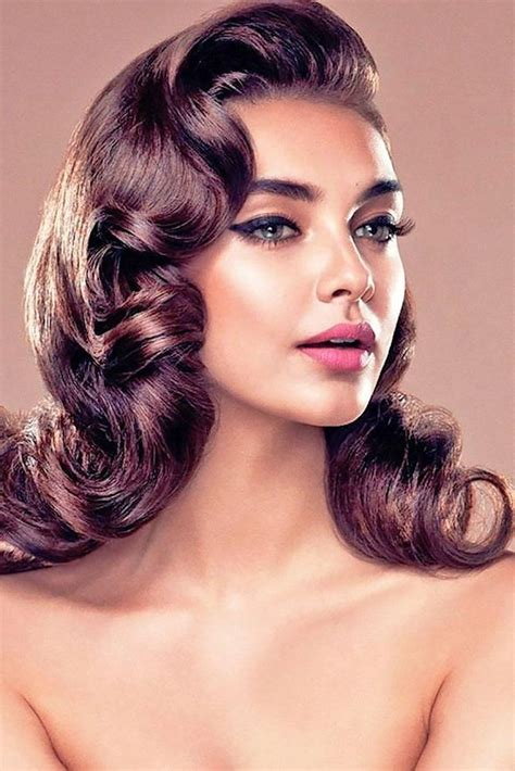 hair colour and styles for 60s 2018 latest long hair vintage hairstyles