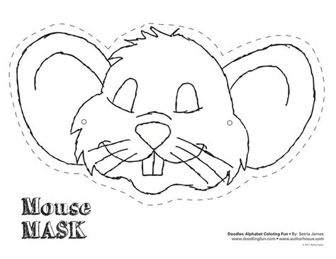 printable mouse mask template image gallery mouse mask