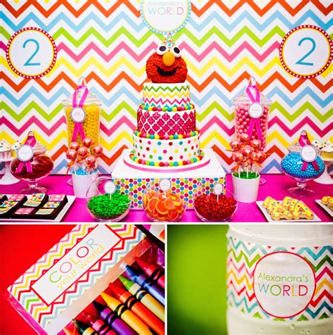 elmo themed birthday for popsugar