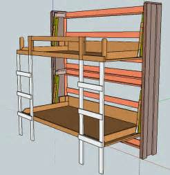 Build Your Own Bunk Beds Free Plans by How To Build Murphy Bunk Bed Diy Plans Woodworking Carpentry Projects Painstaking97pff