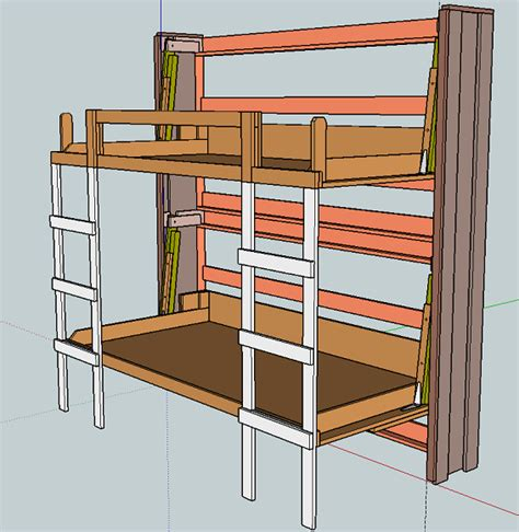 bunk beds plans murphy bunk bed plans bed plans diy blueprints