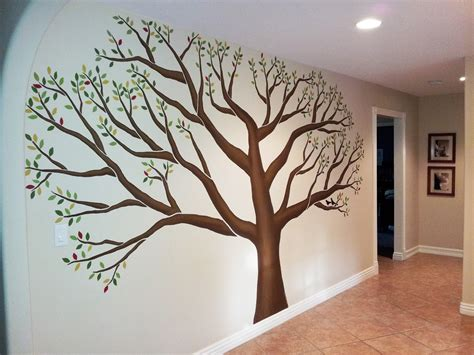 tree of wall mural l murals family tree mural in mudroom of corona ca residence