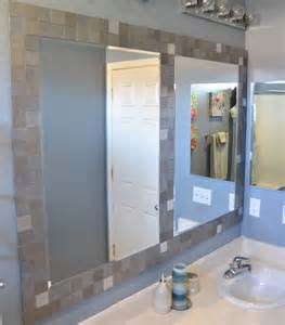 mirrored tiles bathroom five creative ways to use leftover tile tile framed