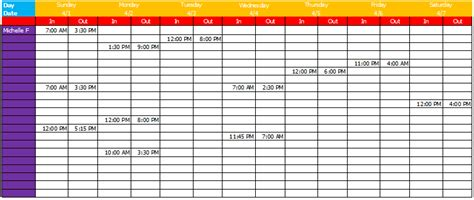 Work Schedule Template Basic Sheets For Excel 174 Work Schedule Template Sheets