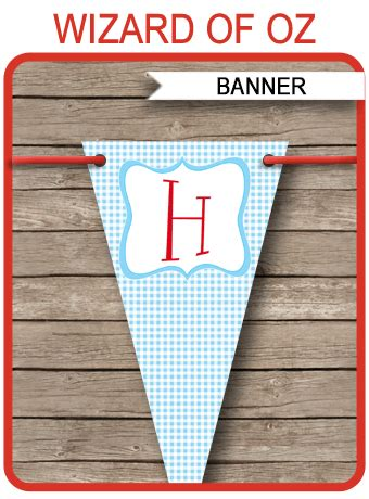 wizard of oz party banner template happy birthday banner