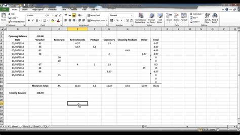 how to create a petty cash template using excel part 4