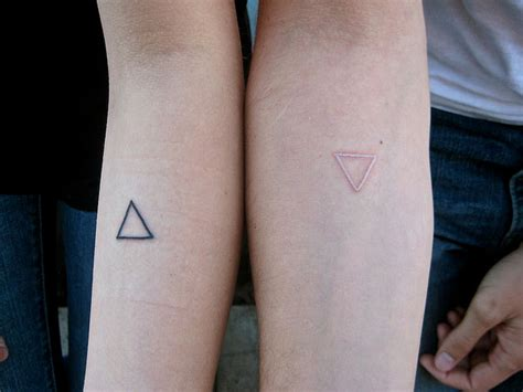 white ink couple tattoos 16 unique triangle tattoos on forearm