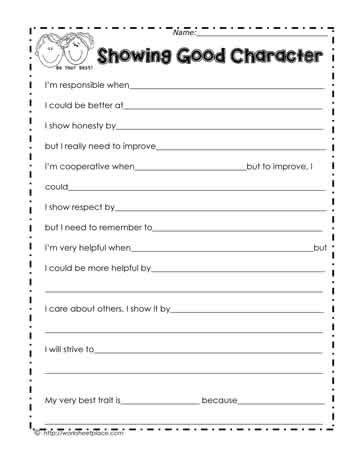 6 Pillars Of Character Worksheets by Character Counts Worksheets Worksheets Releaseboard Free