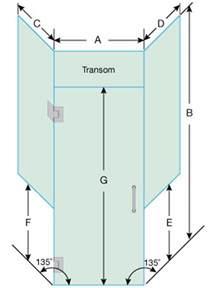 shower door measurements frameless neo angle shower door 46