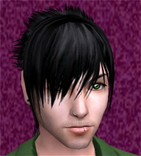 sims 2 emo hair mod the sims emoboy stripes myos recolor