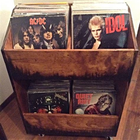 running with scissors vintage crate for magazine storage 1000 ideas about vinyl record storage on pinterest