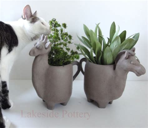 animal pots animal planters on pinterest